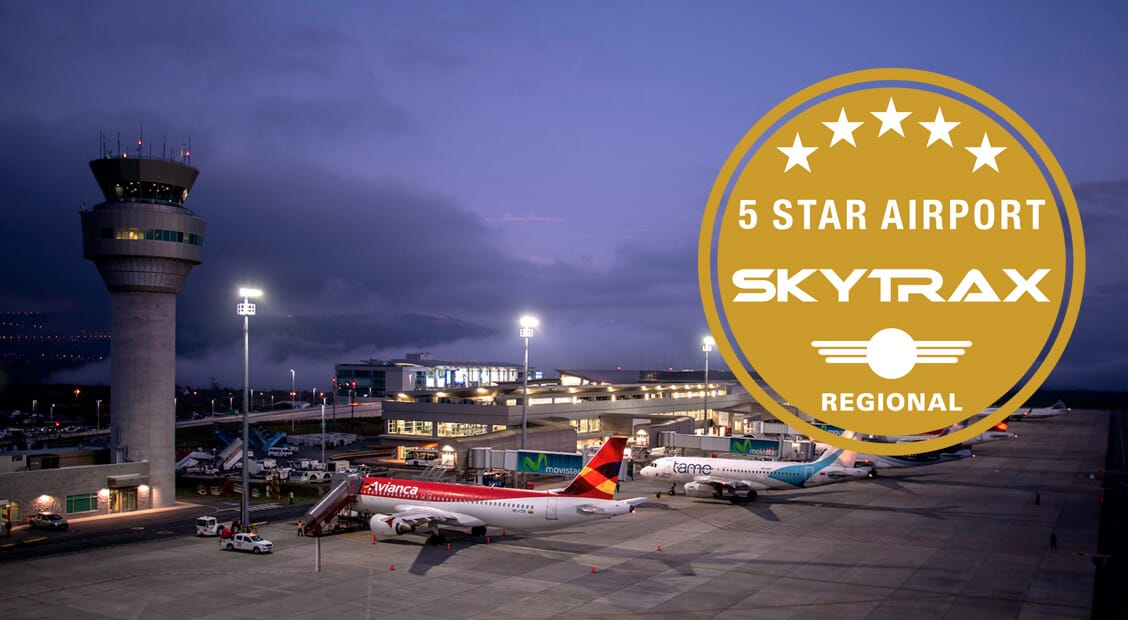 Quito International Airport is certified as a 5-Star Regional Airport